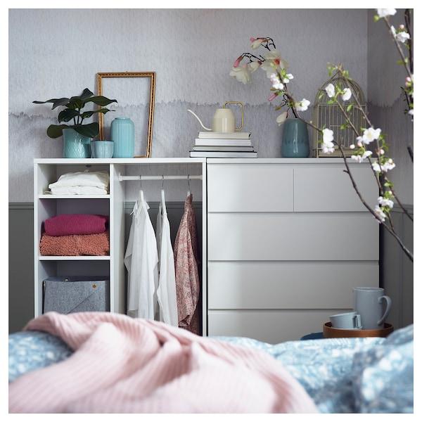 SYVDE Otevřená šatní skříň, bílá, 80x123 cm