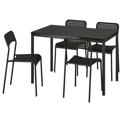 TÄRENDÖ / ADDE stůl a 4 židle černá 110 cm 67 cm 74 cm