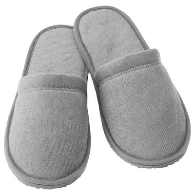 TÅSJÖN Pantofle, šedá, S/M