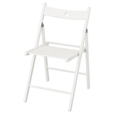 TERJE Skládací židle, bílá