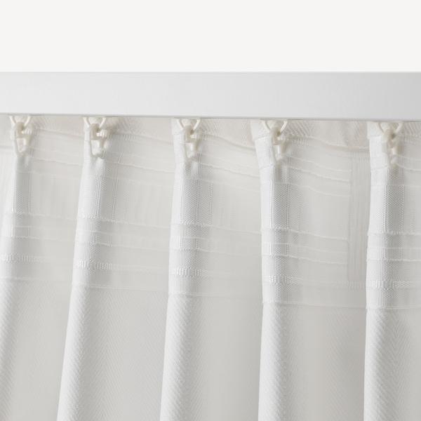 TIBAST Závěsy, 1 pár, bílá, 145x300 cm