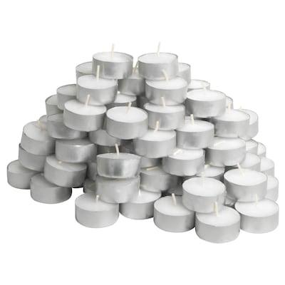 TILLVARO Neparfémované čajové svíčky