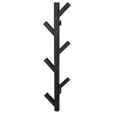 TJUSIG Věšák, černá, 78 cm