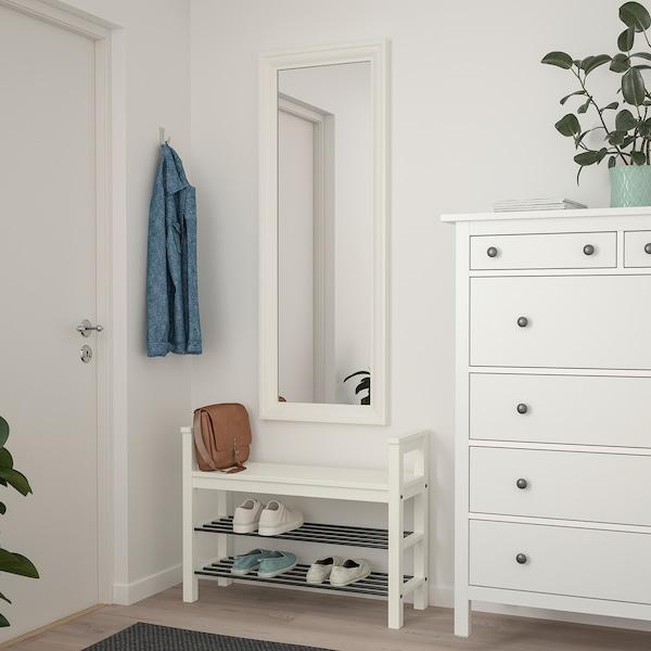 TOFTBYN Zrcadlo, bílá, 52x140 cm