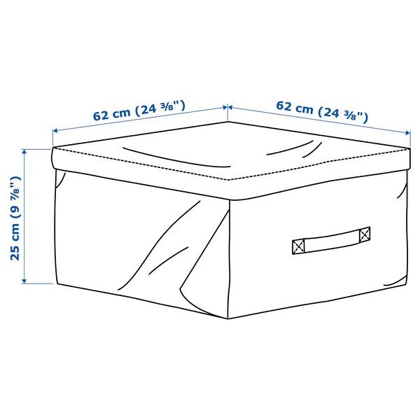 TOSTERÖ úložný vak na polštáře černá 62 cm 62 cm 25 cm
