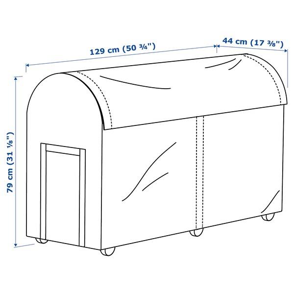 TOSTERÖ úložná krabice, venkovní černá 129 cm 44 cm 79 cm
