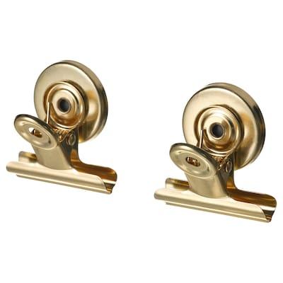 TOTEBO Spona na pořadač s magnetem, zlatá barva