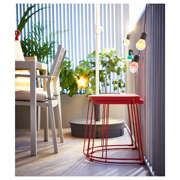 TRANARÖ stolička/odkládací stolek, vn/ven červená 110 kg 56 cm 41 cm 43 cm
