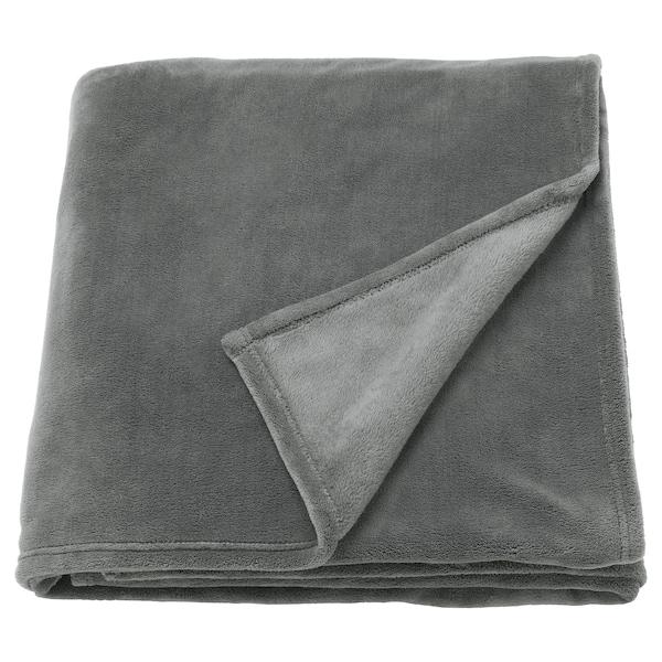 TRATTVIVA přehoz na postel šedá 250 cm 150 cm
