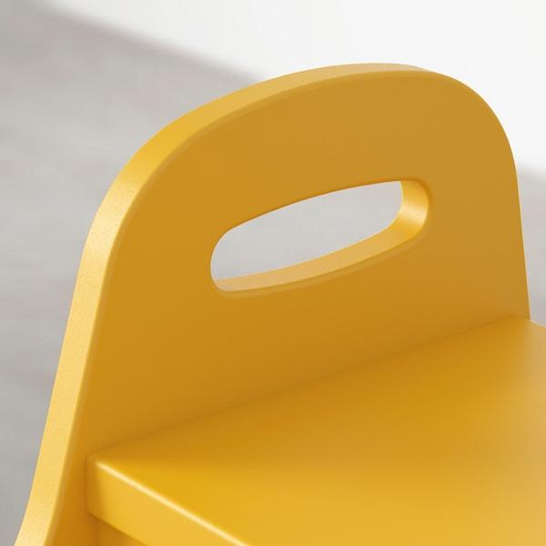 TROGEN Dětské schůdky, žlutá, 40x38x33 cm