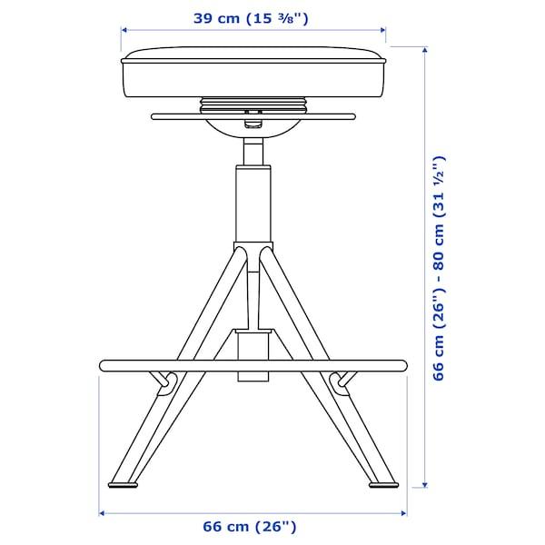TROLLBERGET stolička Glose černá 110 kg 39 cm 66 cm 80 cm 39 cm 39 cm 66 cm 80 cm