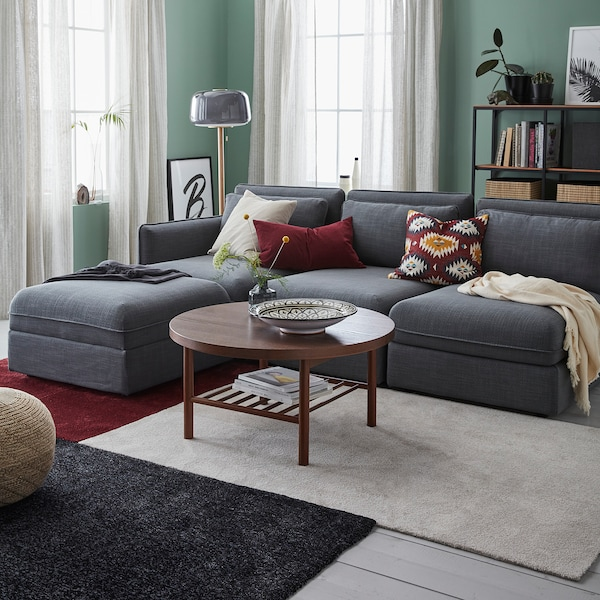 TYVELSE koberec, nízký vlas tmavě červená 150 cm 80 cm 14 mm 1.20 m² 3000 g/m² 1880 g/m² 13 mm