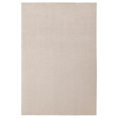 TYVELSE koberec, nízký vlas krémová 300 cm 200 cm 14 mm 6.00 m² 3000 g/m² 1880 g/m² 13 mm