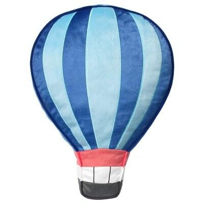 UPPTÅG Polštář, modrá, 49x36 cm