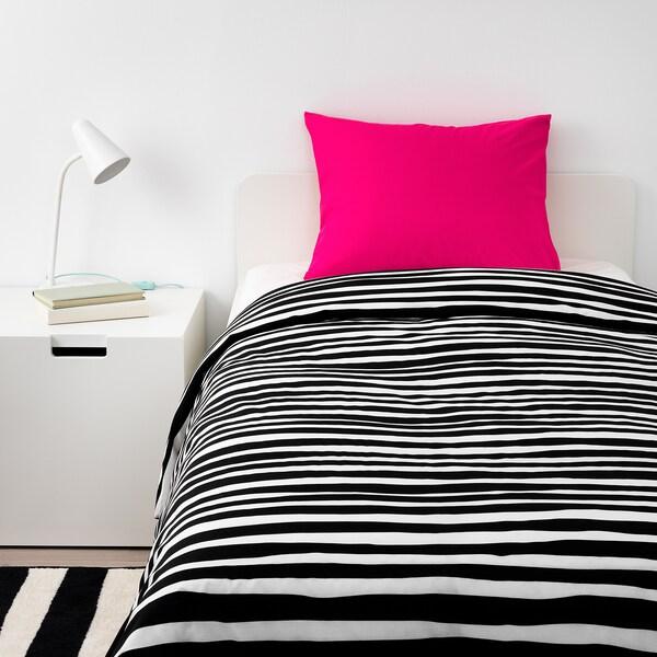 URSKOG povlečení na jednolůžko zebra/proužky 200 cm 150 cm 50 cm 60 cm
