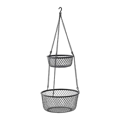 VADHOLMA Závěsný úložný díl, černá/síť, 25x63 cm