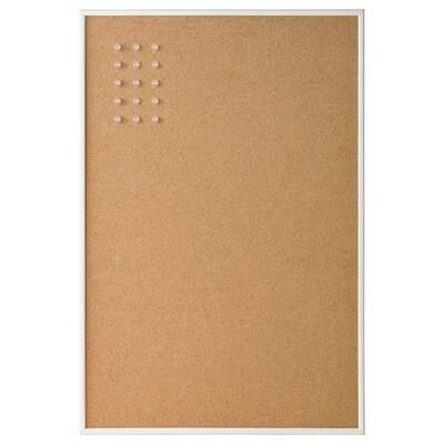 VÄGGIS Nástěnka se špendlíky, bílá, 58x39 cm