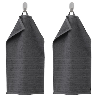 VÅGSJÖN Ručník, tmavě šedá, 30x50 cm