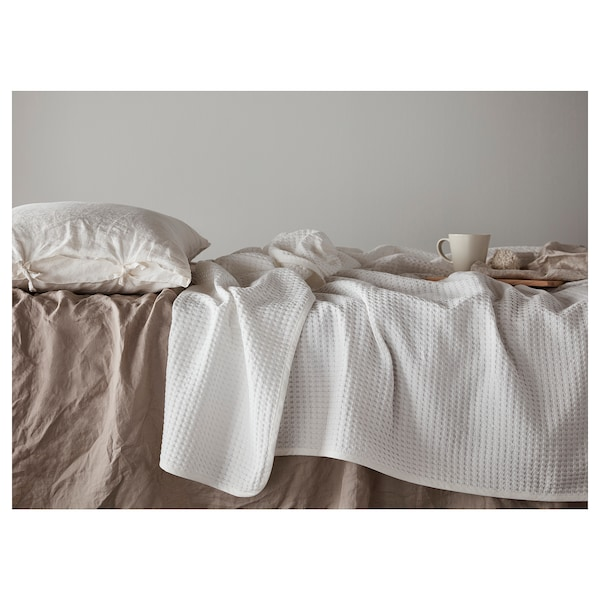 VÅRELD Přehoz na postel, bílá, 150x250 cm