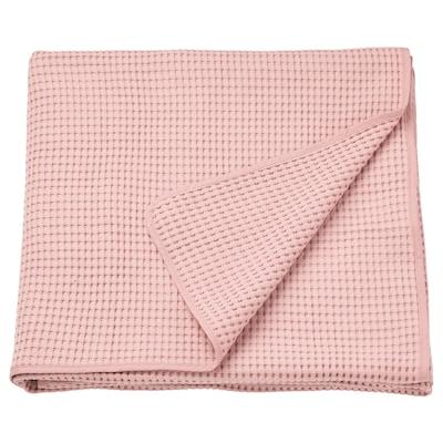 VÅRELD Přehoz na postel, světle růžová, 230x250 cm