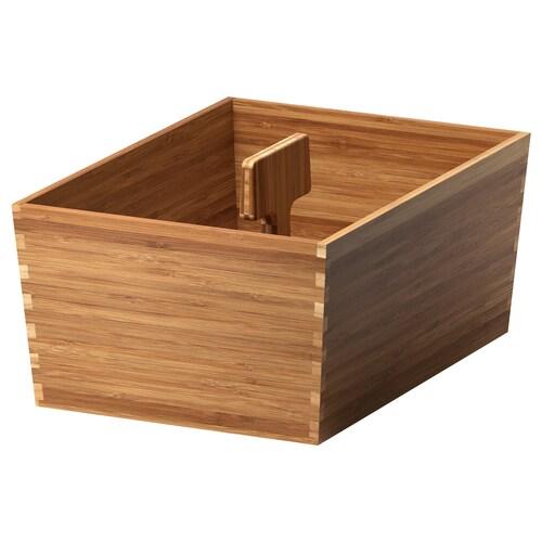 VARIERA krabice s rukojetí bambus 33 cm 24 cm 16 cm