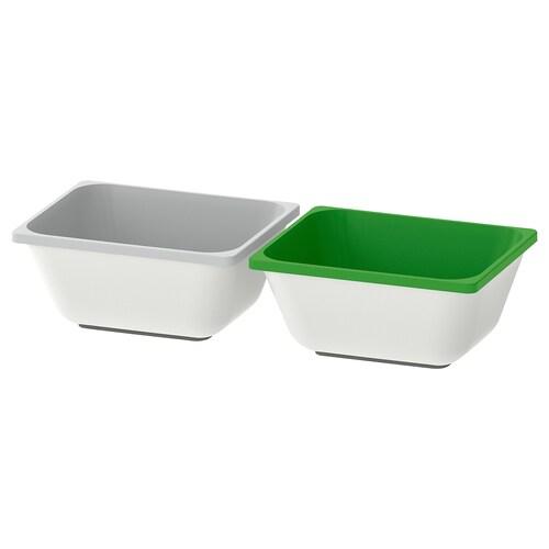 VARIERA krabice zelená/šedá 10 cm 12 cm 2 ks