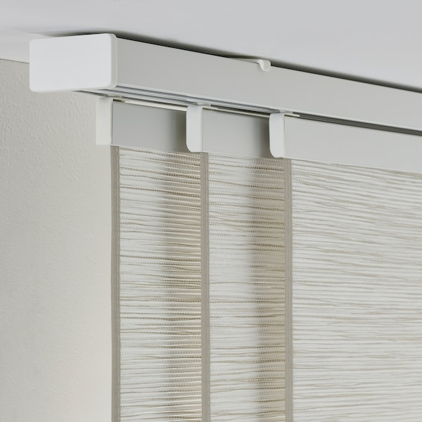 VIDGA Kolejnice, trojitá, včetně stropního kování/bílá, 140 cm