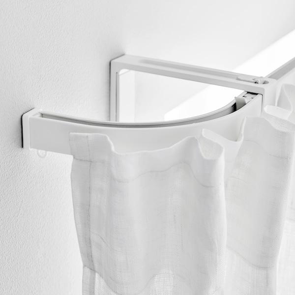 VIDGA Rohový díl, jednoduchá kolejnice, bílá