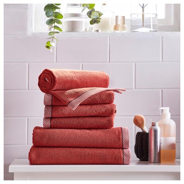 VIKFJÄRD ručník červená 50 cm 30 cm 0.15 m² 475 g/m²