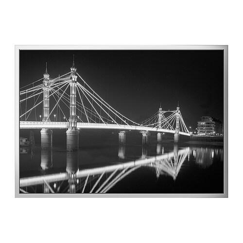 VILSHULT Obraz, Albert Bridge v noci Šířka: 140 cm Výška: 100 cm
