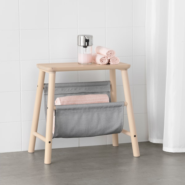 VILTO Stolička s úložným prostorem, bříza, 45 cm