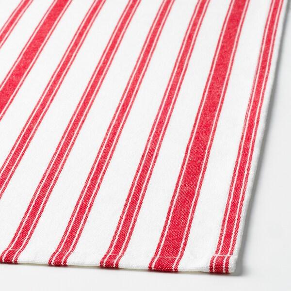 VINTER 2020 Ubrus, proužky červená/bílá, 145x240 cm