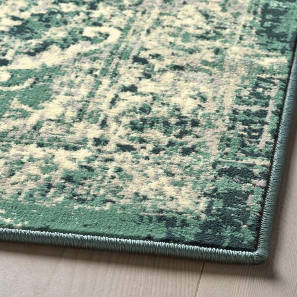 VONSBÄK koberec, nízký vlas zelená 195 cm 133 cm 8 mm 2.59 m² 1700 g/m² 645 g/m² 6 mm