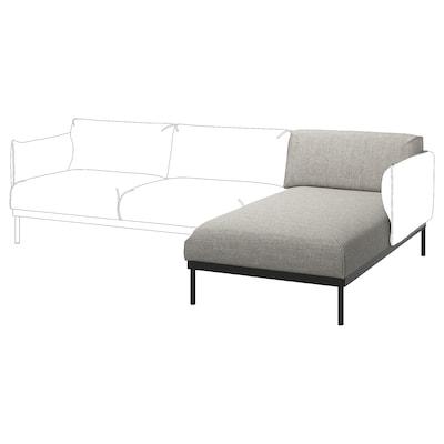 ÄPPLARYD Chaise longue section, Lejde light grey