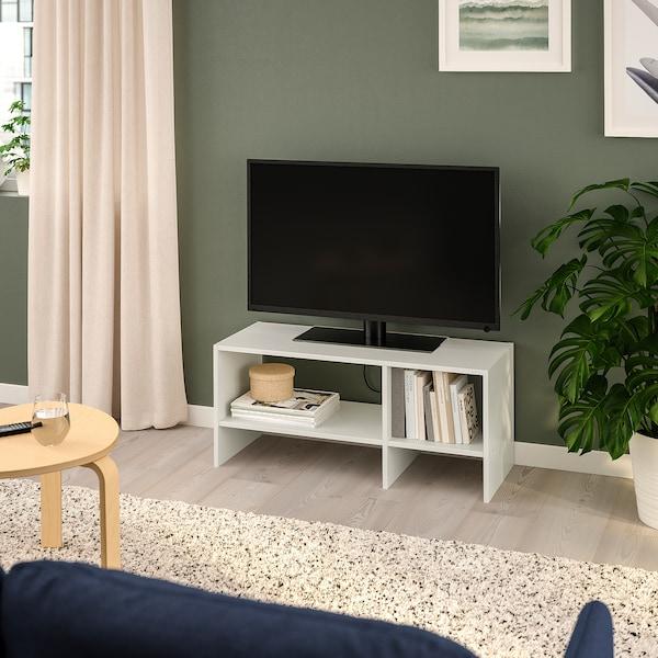 BAGGEBO TV bench, white, 90x35x40 cm