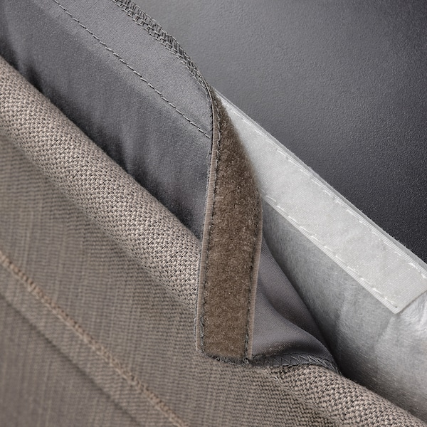 BERGMUND Chair cover, medium long, Nolhaga grey/beige