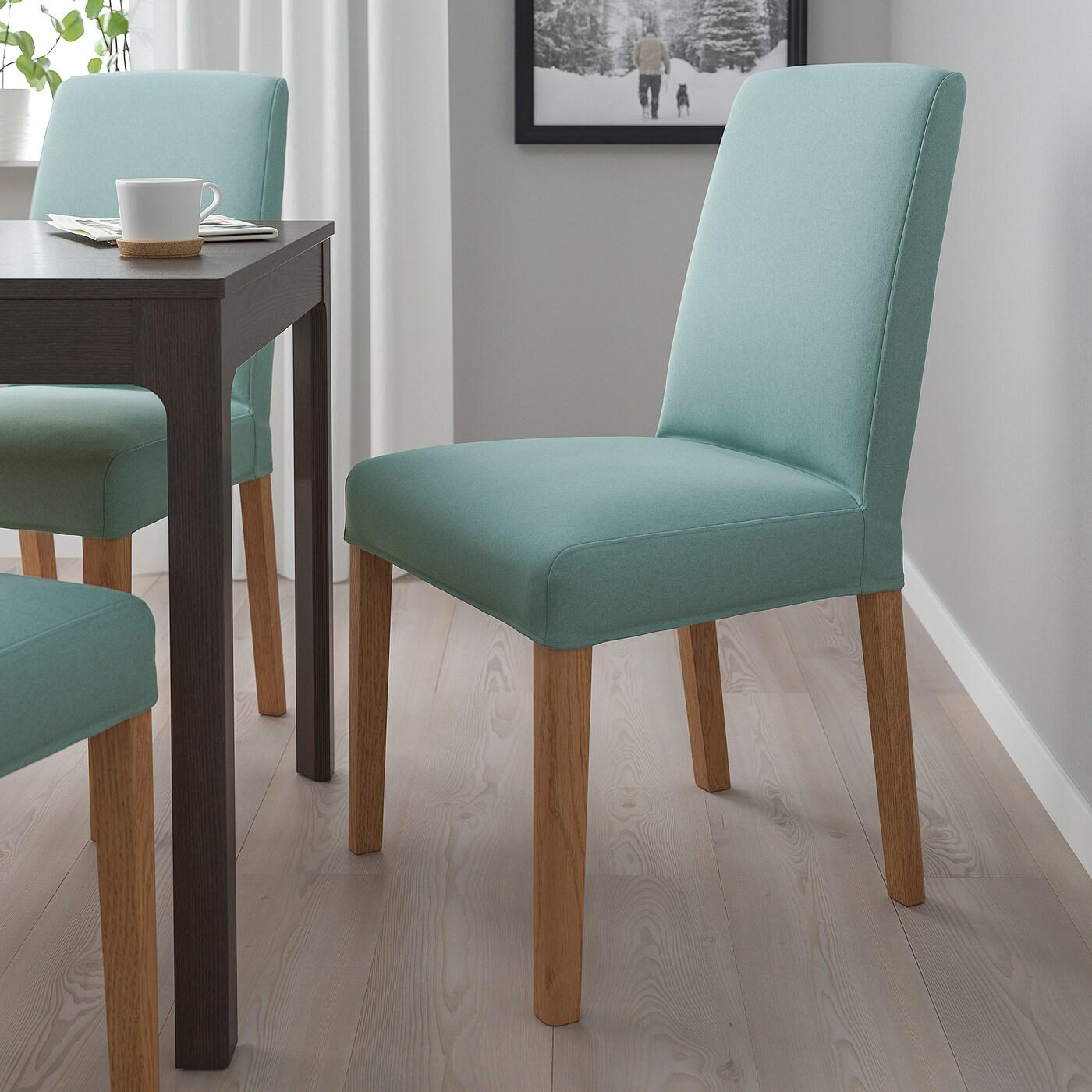 BERGMUND Chair, oak/Ljungen light green