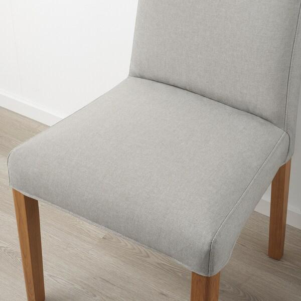 BERGMUND Chair, oak/Orrsta light grey