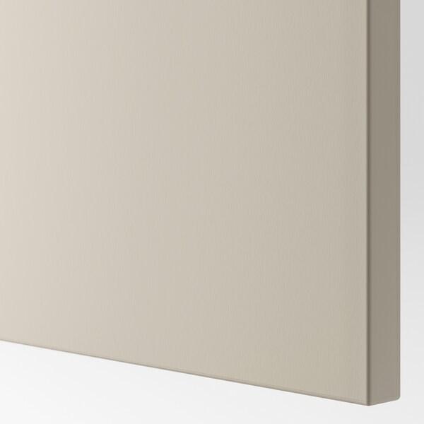 BESTÅ Wall-mounted cabinet combination, white Lappviken/light grey/beige, 120x42x64 cm