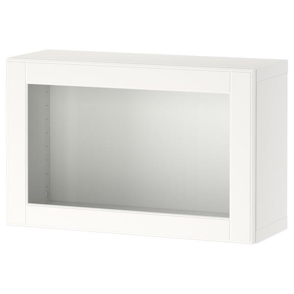 BESTÅ Wall-mounted cabinet combination, white/Ostvik white, 60x22x38 cm
