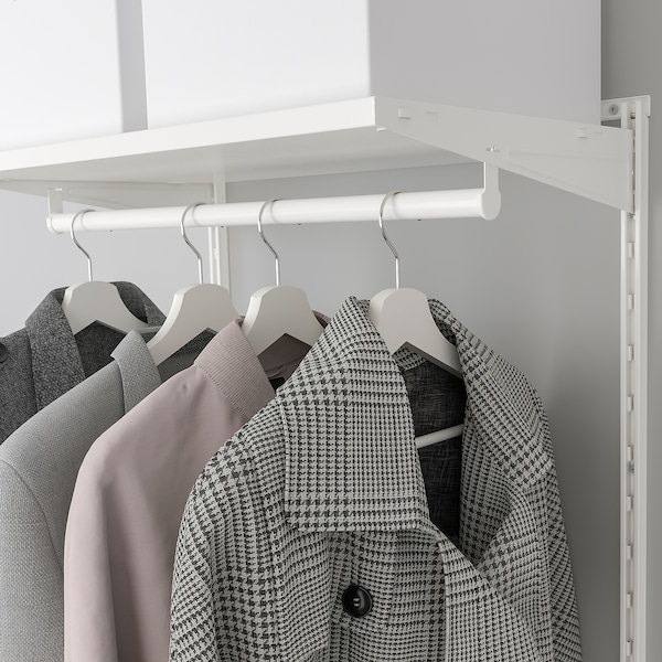 BOAXEL Wardrobe combination, white, 62x40x201 cm