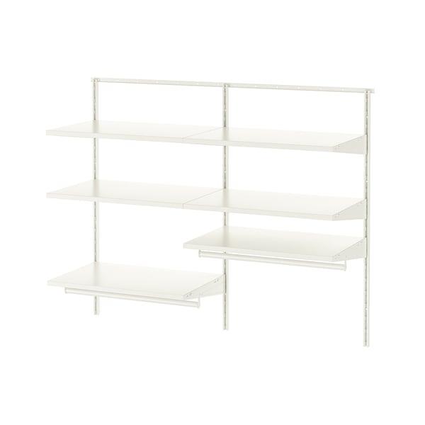BOAXEL Wardrobe combination, white, 125x40x101 cm