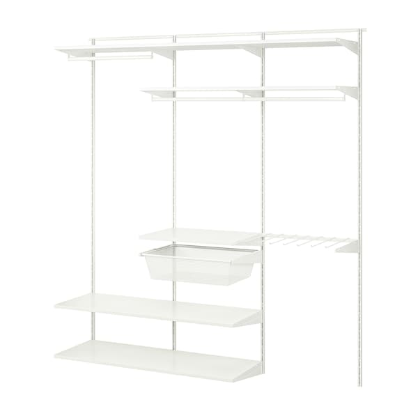 BOAXEL Wardrobe combination, white, 187x40x201 cm