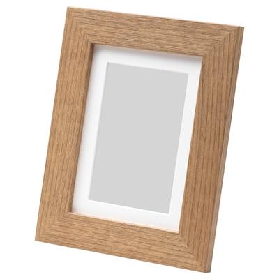 DALSKÄRR Frame, wood effect/light brown, 13x18 cm