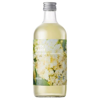 DRYCK FLÄDER Elderflower syrup, 495 ml