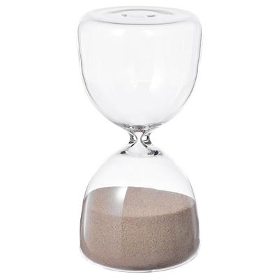 EFTERTÄNKA Decorative hourglass, clear glass/sand, 15 cm