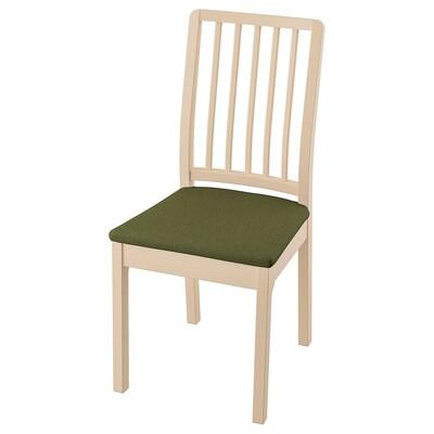 EKEDALEN Chair, birch/Orrsta olive-green