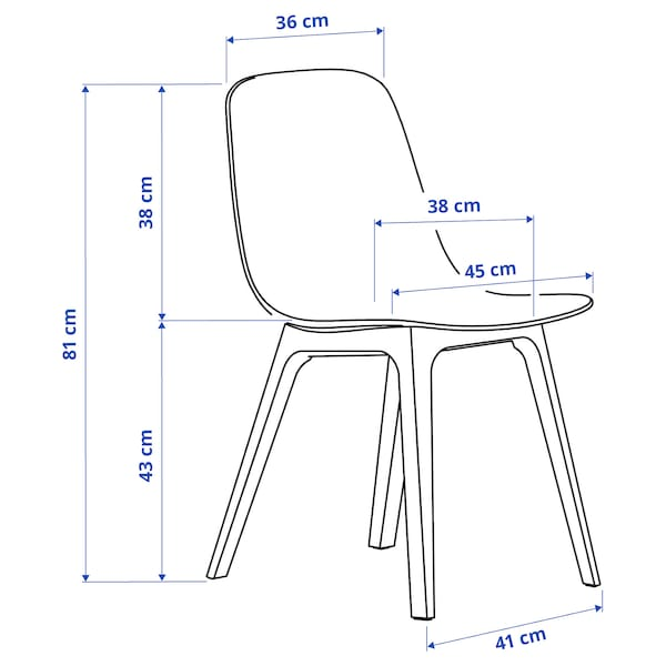 EKEDALEN / ODGER Table and 6 chairs, birch/blue, 180/240 cm