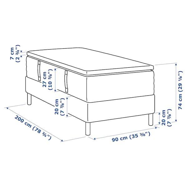 ESPEVÄR Divan bed, Hyllestad firm/Tustna white, 90x200 cm