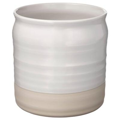FALLENHET Vase, off-white, 21 cm